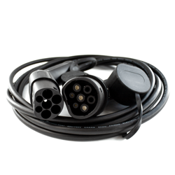 Cable for charging electric vehicles, Type 2 to type 2 32A - 1 Phase