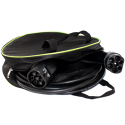 Dedicated bag and cable for charging electric vehicles, Type 2 to type 2 32A - 3 phase