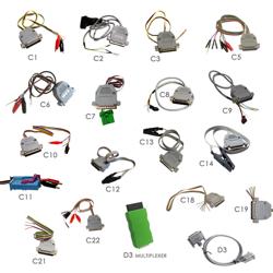 Zestaw kabli do DP4 wraz z dużą walizką