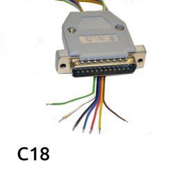 Zestaw zmodyfikowanych kabli